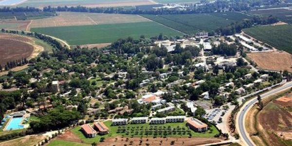 veduta sul kibbutz