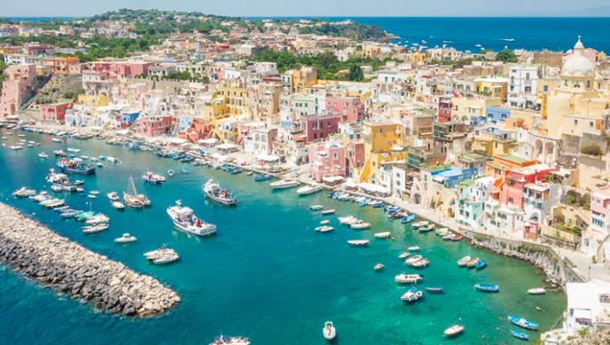 Procida in aliscafo da Napoli